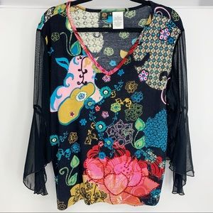 Sale! Bila Women's Embellished Shirt size 1X